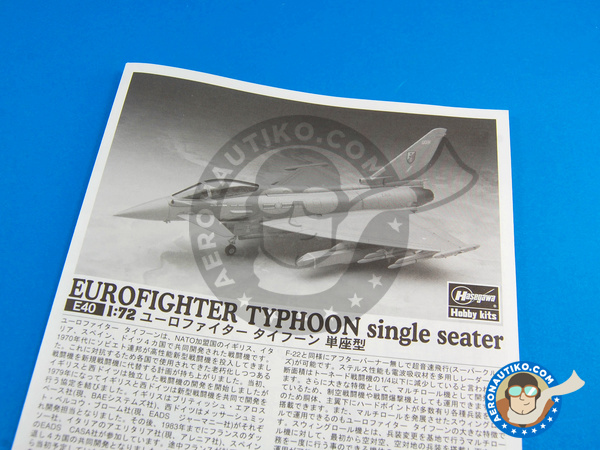Image 7: Eurofighter Typhoon EF-2000 Single Seater | Airplane kit in 1/72 scale manufactured by Hasegawa (ref. 01570)