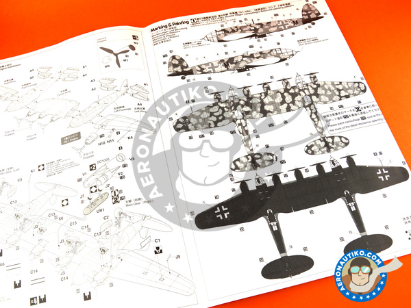 Image 13: Heinkel He 111 Z-2 | Airplane kit in 1/72 scale manufactured by Hasegawa (ref.01940)