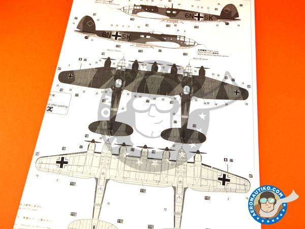 Image 14: Heinkel He 111 Z-2 | Airplane kit in 1/72 scale manufactured by Hasegawa (ref.01940)