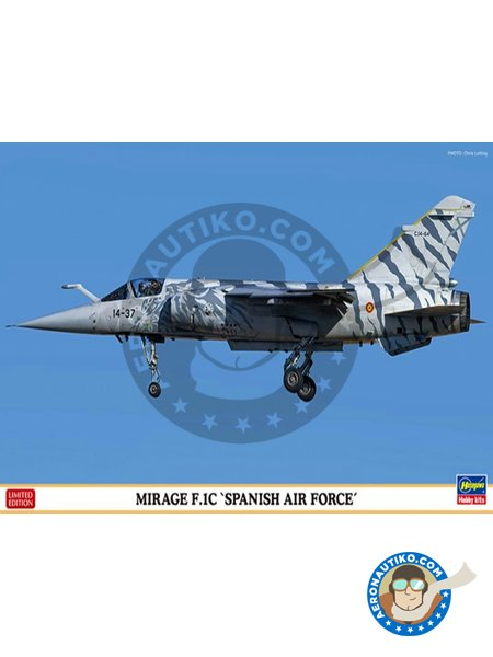 MIrage F.1C 'Spanish Air Force' | Airplane kit in 1/72 scale manufactured by Hasegawa (ref. 02204) image