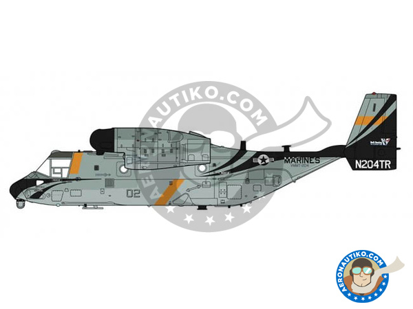 Image 1: Bell-Boeing V-22 Osprey B Tanker | Airplane kit in 1/72 scale manufactured by Hasegawa (ref. 02231)