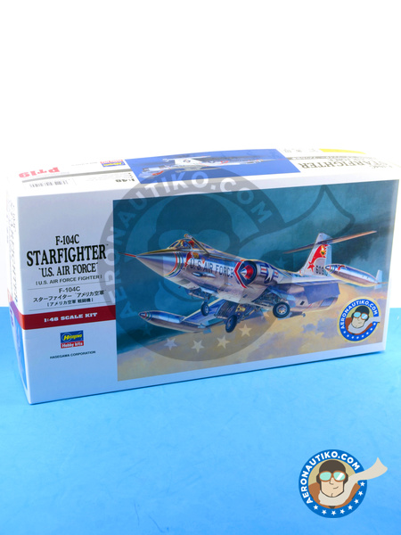 Lockheed F-104 Starfighter C | Airplane kit in 1/48 scale manufactured by Hasegawa (ref. 07219) image