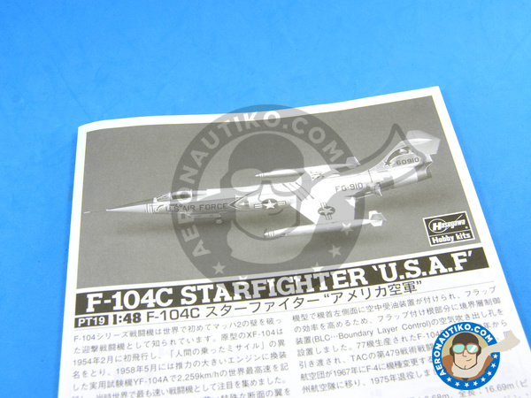 Image 6: Lockheed F-104 Starfighter C | Airplane kit in 1/48 scale manufactured by Hasegawa (ref. 07219)
