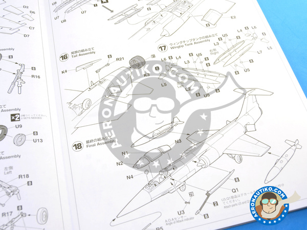 Image 10: Lockheed F-104 Starfighter C | Airplane kit in 1/48 scale manufactured by Hasegawa (ref. 07219)