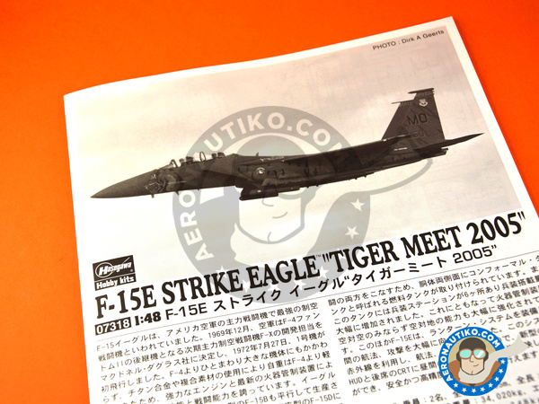 Image 11: McDonnell Douglas F-15 Eagle E | Airplane kit in 1/48 scale manufactured by Hasegawa (ref. 07318)