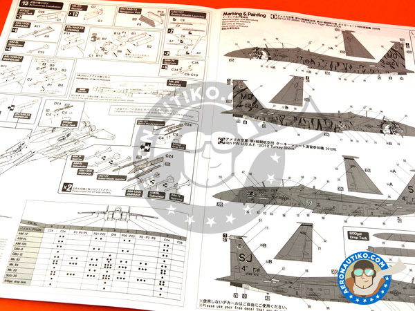 Image 15: McDonnell Douglas F-15 Eagle E | Airplane kit in 1/48 scale manufactured by Hasegawa (ref.07318)