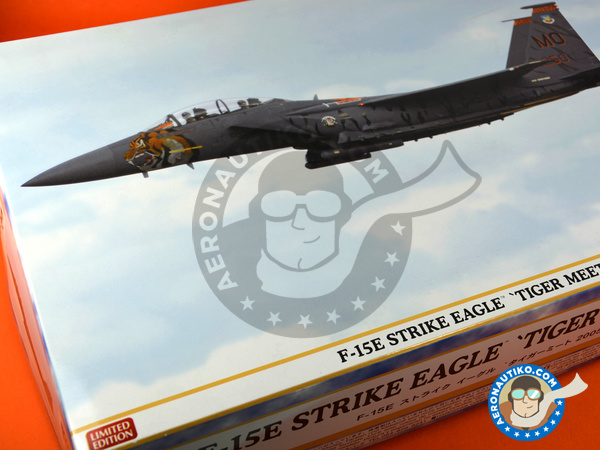 Image 17: McDonnell Douglas F-15 Eagle E | Airplane kit in 1/48 scale manufactured by Hasegawa (ref.07318)