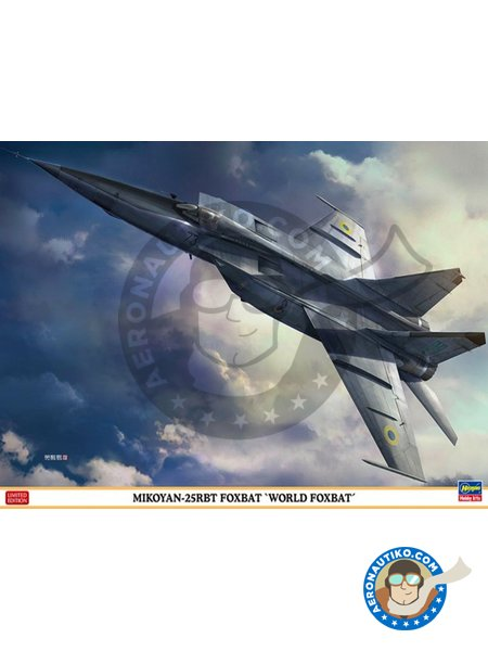 MiG-25RBT Foxbat `World Foxbat` | New July 2018 | Airplane kit in 1/48 scale manufactured by Hasegawa (ref. 07471) image