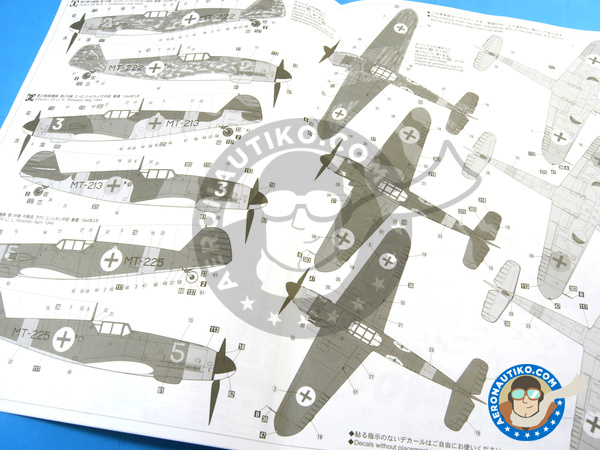 Image 14: Messerschmitt Bf 109 G-2   Airplane kit in 1/32 scale manufactured by Hasegawa (ref.08230)