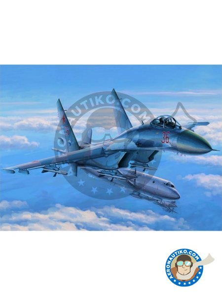 Su-27 Flanker Early Version | Airplane kit in 1/48 scale manufactured by Hobby Boss (ref. 81712) image