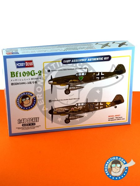 Messerschmitt Bf 109 G-2 | Airplane kit in 1/48 scale manufactured by Hobby Boss (ref. 81750) image