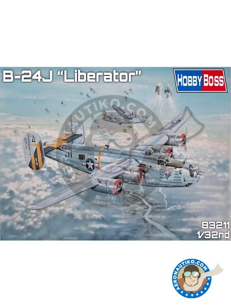 B-24J Liberator | Airplane kit in 1/32 scale manufactured by Hobby Boss (ref.83211) image