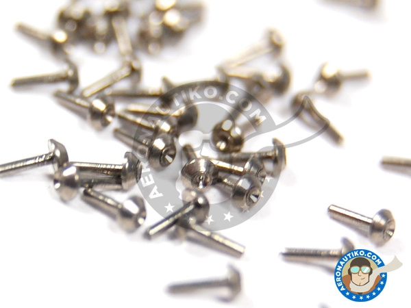 Image 4: Tapered head rivets 1.00mm | Rivets manufactured by Hobby Design (ref. HD07-0017)