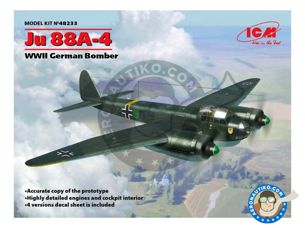 Image 1: Junkers Ju 88 A-4 | Airplane kit in 1/48 scale manufactured by ICM (ref. 48233)