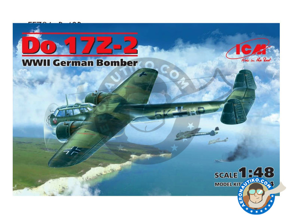 Image 1: Dornier Do 17 Fliegender Bleistift Z-2 | Airplane kit in 1/48 scale manufactured by ICM (ref. 48244)