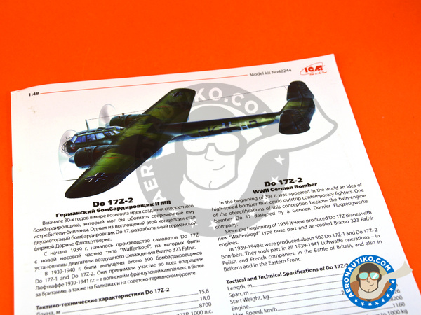 Image 5: Dornier Do 17 Fliegender Bleistift Z-2 | Airplane kit in 1/48 scale manufactured by ICM (ref. 48244)