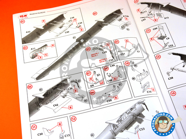 Image 6: Dornier Do 17 Fliegender Bleistift Z-2 | Airplane kit in 1/48 scale manufactured by ICM (ref. 48244)