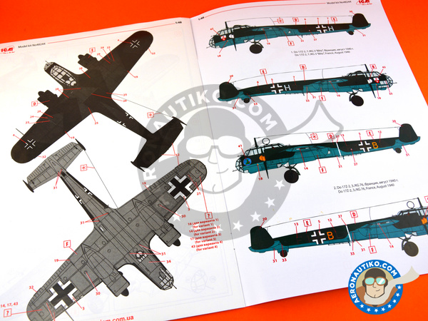 Image 10: Dornier Do 17 Fliegender Bleistift Z-2 | Airplane kit in 1/48 scale manufactured by ICM (ref. 48244)
