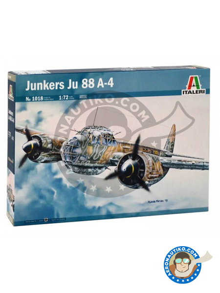 Junkers Ju-88 A-4 | Airplane kit in 1/72 scale manufactured by Italeri (ref. 1018) image