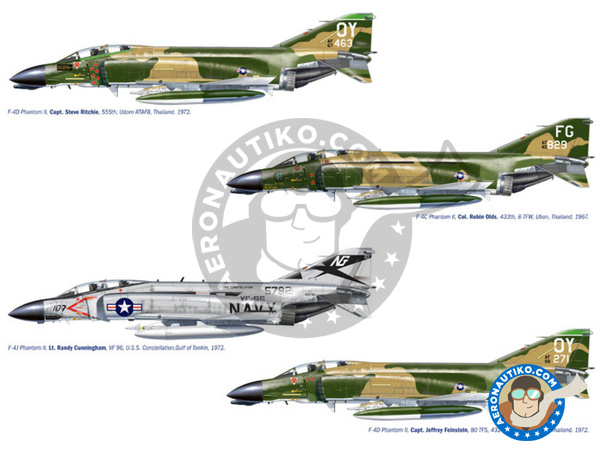 Image 1: McDonnell Douglas F-4 Phantom II C / D / J | Airplane kit in 1/72 scale manufactured by Italeri (ref. 1373)