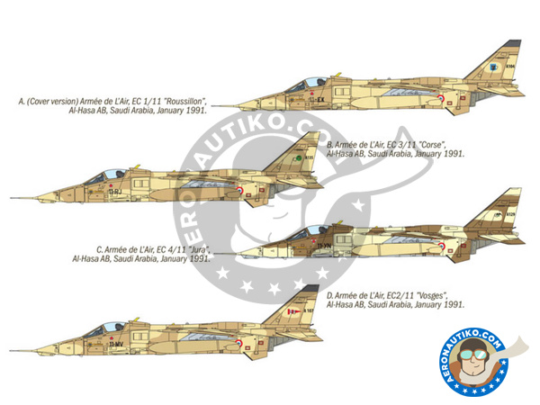 Image 2: Sepecat Jaguar A | Airplane kit in 1/72 scale manufactured by Italeri (ref. 1386)