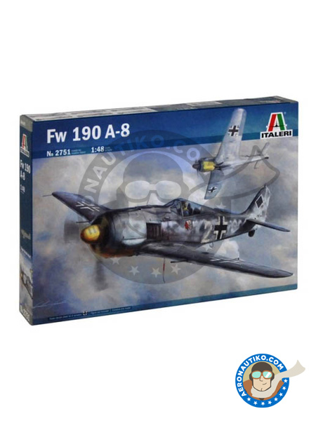 Focke-Wulf Fw 190 Würger A-8 | Airplane kit in 1/48 scale manufactured by Italeri (ref. 2751) image