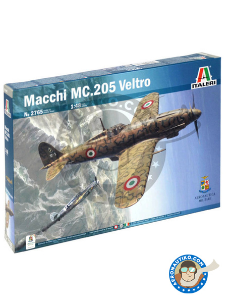 Macchi M.C.205 Veltro | Airplane kit in 1/48 scale manufactured by Italeri (ref. 2765) image