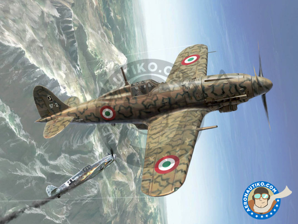 Image 1: Macchi M.C.205 Veltro | Airplane kit in 1/48 scale manufactured by Italeri (ref. 2765)