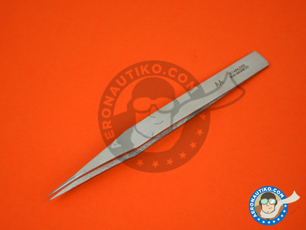 Image 3: Precision tweezers straight | Tools manufactured by Italeri (ref. 50814)