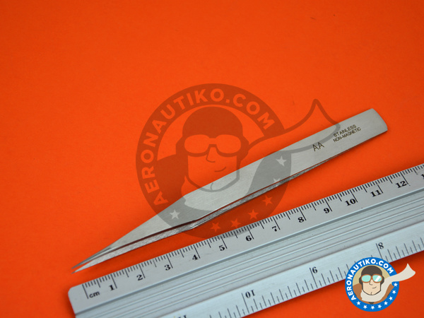 Image 4: Precision tweezers straight | Tools manufactured by Italeri (ref. 50814)