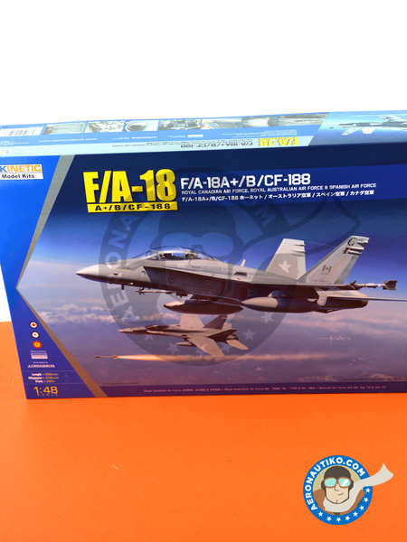 McDonnell Douglas F/A-18 Hornet A+ / B / CF-188 | Airplane kit in 1/48 scale manufactured by Kinetic Model Kits (ref. K48030) image