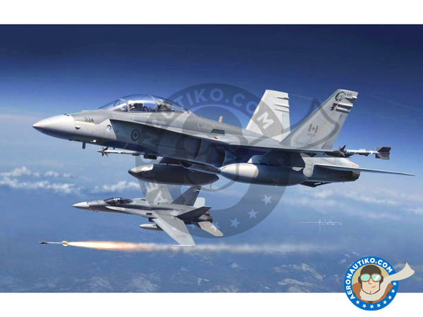 Image 1: McDonnell Douglas F/A-18 Hornet A+ / B / CF-188 | Airplane kit in 1/48 scale manufactured by Kinetic Model Kits (ref. K48030)