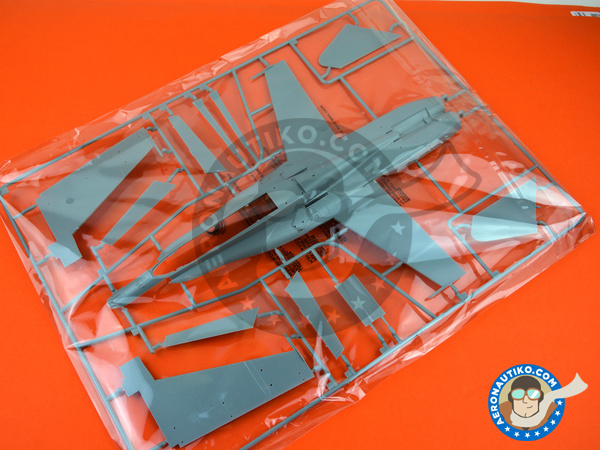 Image 4: McDonnell Douglas F/A-18 Hornet A+ / B / CF-188 | Airplane kit in 1/48 scale manufactured by Kinetic Model Kits (ref. K48030)