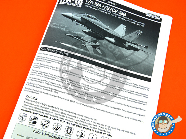 Image 21: McDonnell Douglas F/A-18 Hornet A+ / B / CF-188 | Airplane kit in 1/48 scale manufactured by Kinetic Model Kits (ref. K48030)