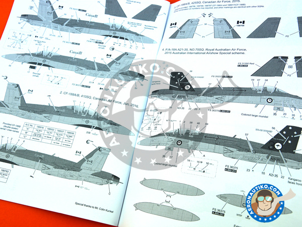 Image 25: McDonnell Douglas F/A-18 Hornet A+ / B / CF-188 | Airplane kit in 1/48 scale manufactured by Kinetic Model Kits (ref. K48030)