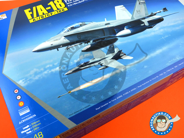 Image 28: McDonnell Douglas F/A-18 Hornet A+ / B / CF-188 | Airplane kit in 1/48 scale manufactured by Kinetic Model Kits (ref. K48030)