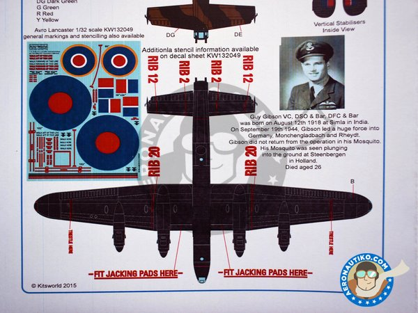 Image 7: Avro Lancaster B III | Markings | Marking / livery in 1/32 scale manufactured by Kits World (ref. KW132056)