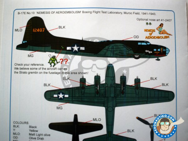 Image 4: Boeing B-17 Flying Fortress | Marking / livery in 1/32 scale manufactured by Kits World (ref.KW132107)