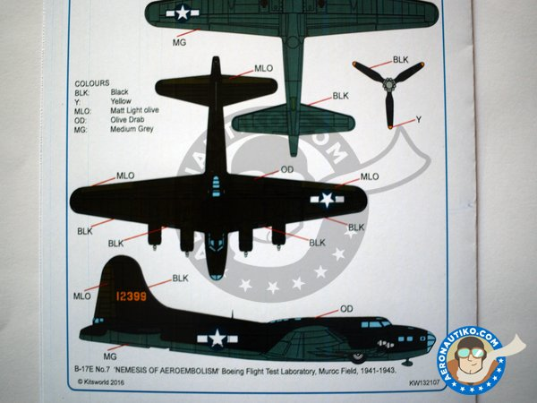 Image 5: Boeing B-17 Flying Fortress | Marking / livery in 1/32 scale manufactured by Kits World (ref.KW132107)