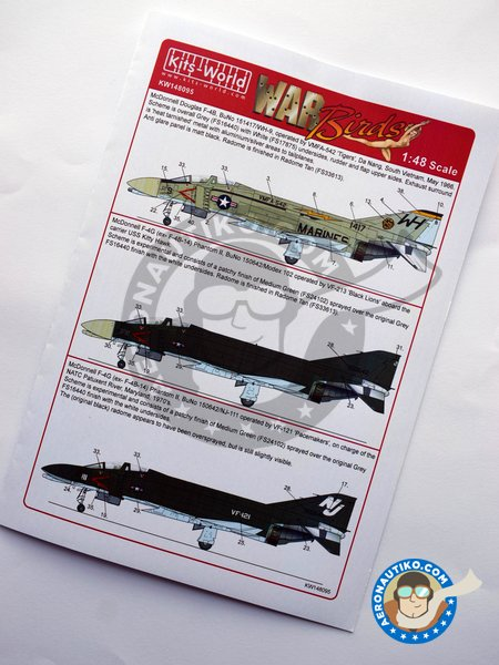"""Decal for McDonnell Douglas F-4B """"Phantom"""" 