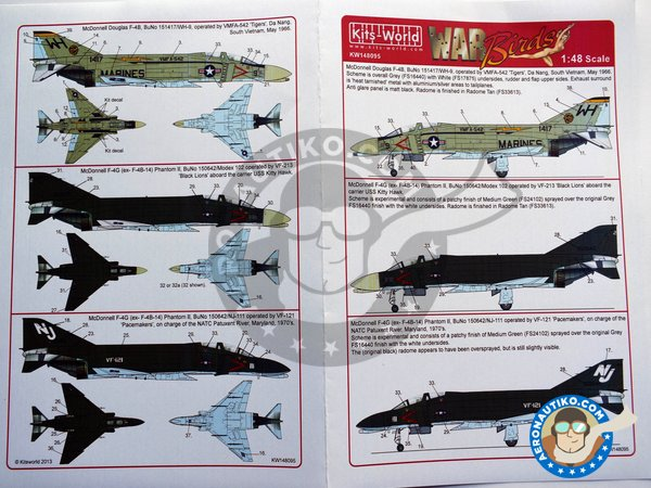 """Image 2: Decal for McDonnell Douglas F-4B """"Phantom"""" 