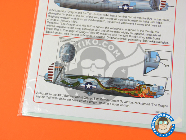 Image 2: Consolidated B-24 Liberator J | Marking / livery in 1/48 scale manufactured by Kits World (ref. KW148149)