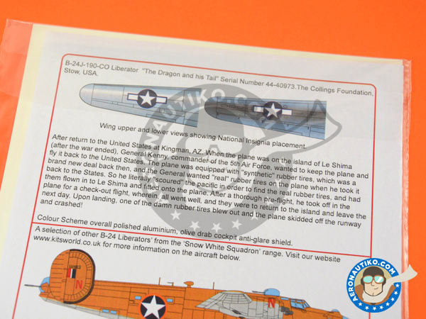Image 3: Consolidated B-24 Liberator J | Marking / livery in 1/48 scale manufactured by Kits World (ref. KW148149)