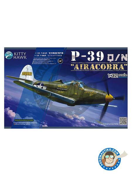 Bell P-39 Airacobra Q / N | Airplane kit in 1/32 scale manufactured by Kitty Hawk (ref. KH32013) image