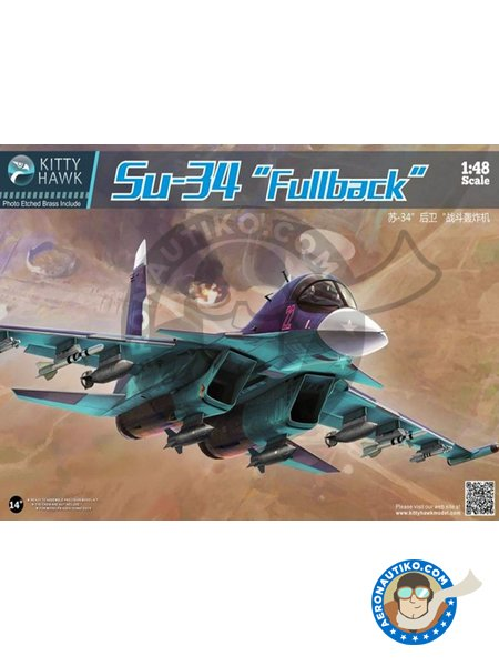 """Su-34 """"Fullback""""   Model kit in 1/48 scale manufactured by Kitty Hawk (ref.KH80141) image"""