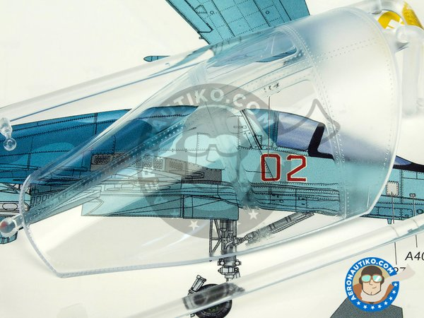"""Image 8: Su-34 """"Fullback""""   Model kit in 1/48 scale manufactured by Kitty Hawk (ref.KH80141)"""