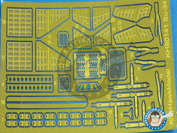 """Image 11: Su-34 """"Fullback""""   Model kit in 1/48 scale manufactured by Kitty Hawk (ref.KH80141)"""