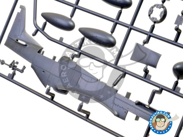 Image 2: North American P-51D Mustang Fighter | Airplane kit in 1/48 scale manufactured by Meng Model (ref.LS-006)