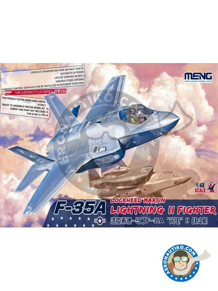 Lockheed-Martin F-35A Lightning II | Airplane kit in 1/48 scale manufactured by Meng Model (ref. LS-007) image