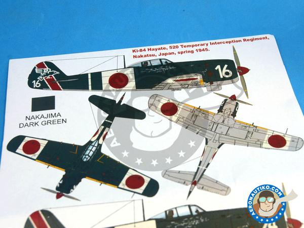 Image 1: Nakajima Ki-84 Hayate | Masks in 1/32 scale manufactured by Montex Mask (ref.K32034)